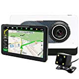 Best Gps Cameras - junsun 7 inch Car Rear view GPS Navigation Review