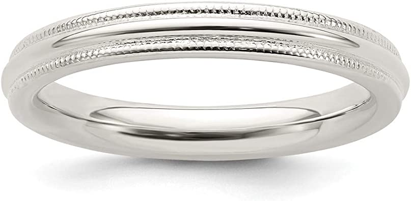 925 Sterling Silver 6mm Double Milgrain Wedding Band Ring Fine Jewelry Ideal Gifts For Women