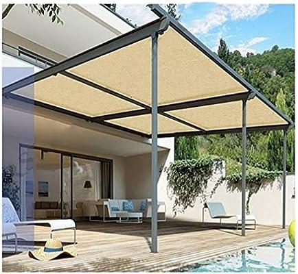 ALGFree Toldo Vela De Sombra Rectangular Balcón Exterior Sombra Rectangular Red 90% Protector Solar Adecuado para Plantas De Vidrio De Jardín Aislar Calor Bloque De Sombra Luz Enfriar Techo: Amazon.es: Hogar