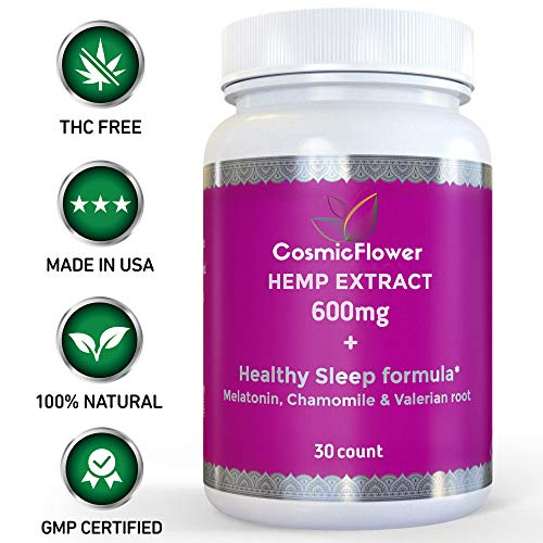 - Healthy Sleep Aid   Full Spectrum Hemp Extract 600mg, Melatonin Valerian Root Chamomile   Hemp Oil Extract for Pain Anxiety and Stress Relief   Herbal Sleep Aid   Omega 3-6-9   Jet Lag   30 Pills