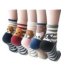 Womens Cute Animal Socks, Fun and Cool 100% Cotton Art Socks for Women
