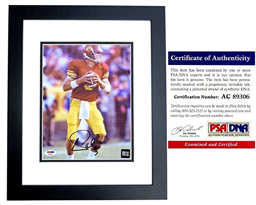 Carson Palmer Autographed Signed USC Trojans 8x10 Photo Black Custom Frame - PSA/DNA Authentic