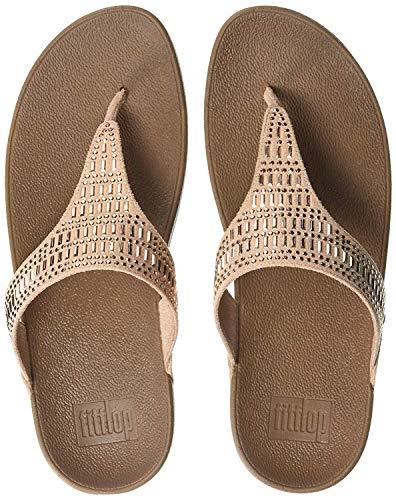FitFlop Women's INCASTONE Toe-Thong Sandals Flip-Flop, Nude, 11 M US