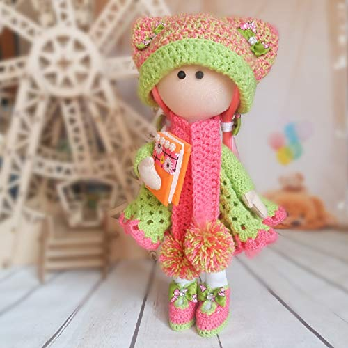 Popi doll amigurumi crochet doll Christmas brown hair | Etsy | 500x500