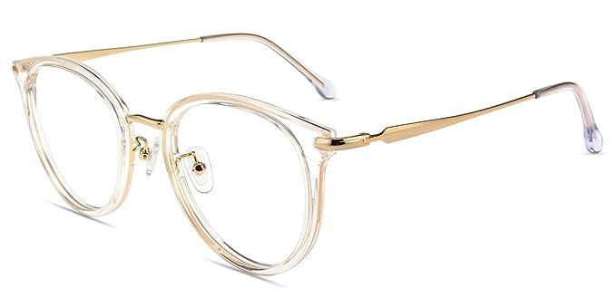 5eb84f3577 Amazon.com: Firmoo Blue Light Blocking Computer Glasses,Round Oversized Non- prescription Anti Blue Light Glasses,Anti Eyestrain Headache Glare for  Women ...