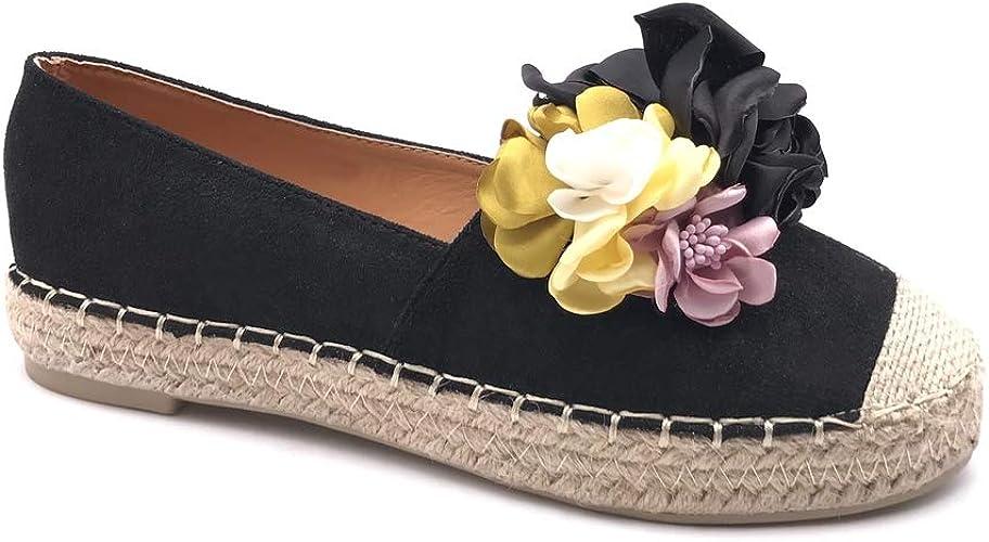 Angkorly Chaussure Mode Espadrille Ballerine Slip on Folk