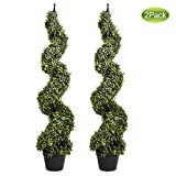 Artificial Cypress Spiral Topiary Trees Potted