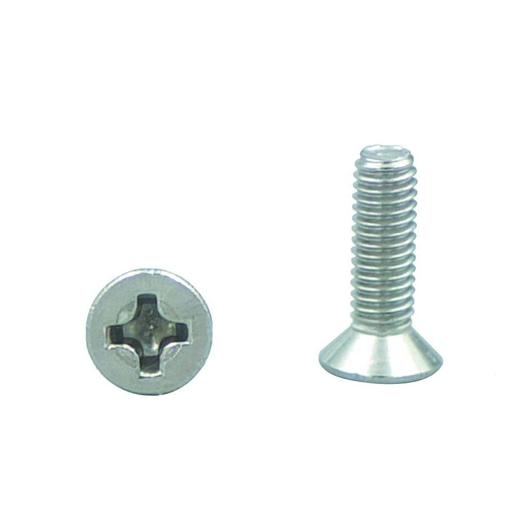 Bluemoona 50 Pcs - Metric Stainless Steel 304 Thread M4 Countersunk Cross Machine Wire Screws Phillips Cross Drive (4MM X 16mm)