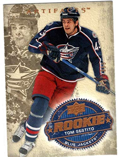 - 2008-09 Artifacts #243 Tom Sestito RC Serial #'d/999 - Columbus Blue Jackets