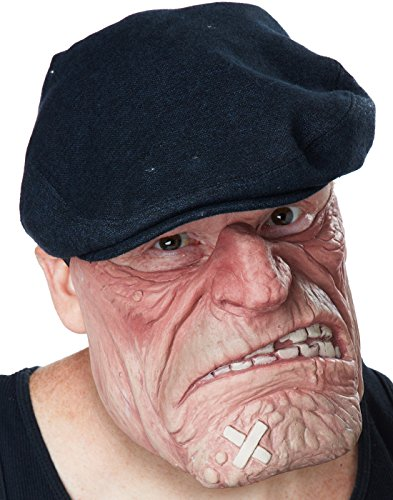 Comic Book Guy Mens Costumes (California Costumes Men's Comic Book Brawler Mask, Flesh, One Size)
