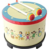 Floor Tom Drum 8 inch Gathering Club Carnival Colorful Percussion Instrument with 2 Mallets Music Drum for Child Special Chri