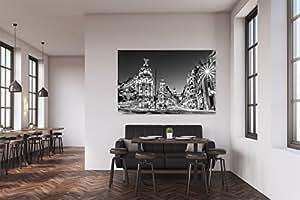 Cuadro pvc madrid en la noche cuadros modernos baratos for Cuadros salon baratos