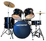 Huntington DRM500-BK 5-Piece Drum Set Throne, Black