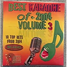 Best Of Karaoke 2014 Volume 3 CD+Graphics CDG 18 Pop & Country Tracks Sia Ariana Grande Charli XCX John Legend Meghan Trainor Sam Smith Kenny Chesney One Republic Florida Georgia Line Chase Rice