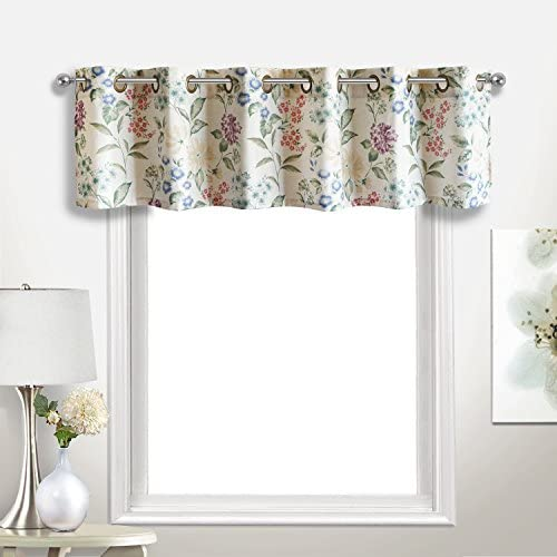 DriftAway Plaid Pattern Thermal Insulated Blackout Window Curtain Valance Rod Pocket 2 Layers 52 Inch by 18 Inch Black