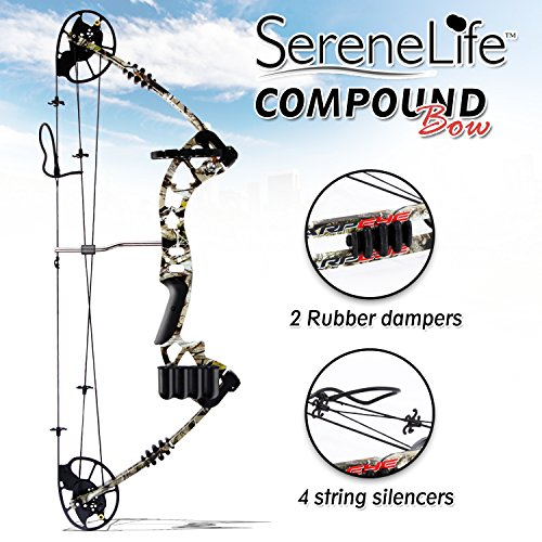 SereneLife Compound Bow, Adjustable Draw Weight 30-70 lbs with Max Speed 320 fps - Right Handed (SLCOMB10) by SereneLife (Image #3)