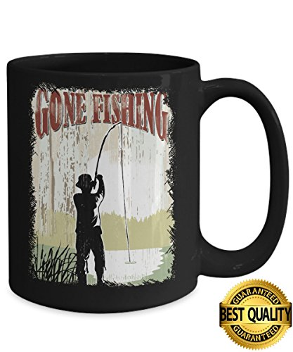 BEST QUALITY, Gone Fishing Mug, Funny Fishing Coffee Mug, Fishing Gifts, 11 & 15 Ounce Ceramic Coffee or Tea Mug By - Glasses Measure How For My Face I Do
