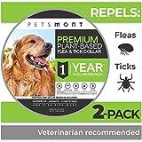 Petsmont Flea Collar for Dogs, Tick Collar for