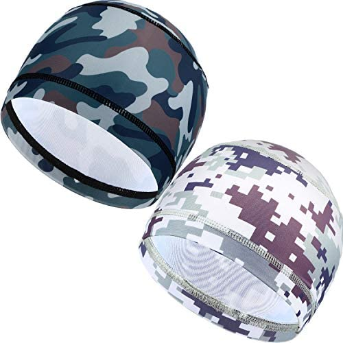 Satinior Schweißableitende Helmauskleidung Kühlkappe Laufmütze Fahrradkappe Schädelkappe Helm Schutzhelmfutter Für Männer Und Damen Camouflage Color 2 Bekleidung