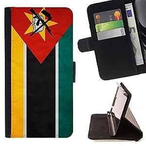 Momo Phone Case / Flip Funda de Cuero Case Cover - Nacional bandera de la nación País Mozambique; - Sony Xperia Style T3