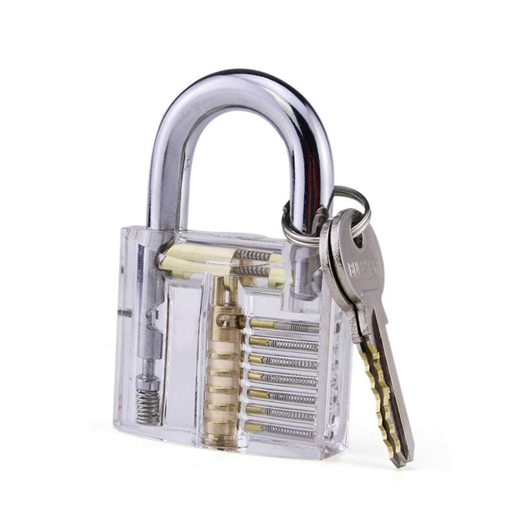 20 unidades Juego de ganz/úas con candado de entrenamiento transparente gu/ía para cerrajeros principiantes y profesionales kit de herramientas para abrir tarjetas de cr/édito