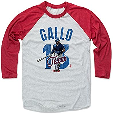 official photos 069c2 50f32 500 LEVEL Joey Gallo Baseball Tee Shirt - Texas Baseball Raglan Shirt -  Joey Gallo Arch