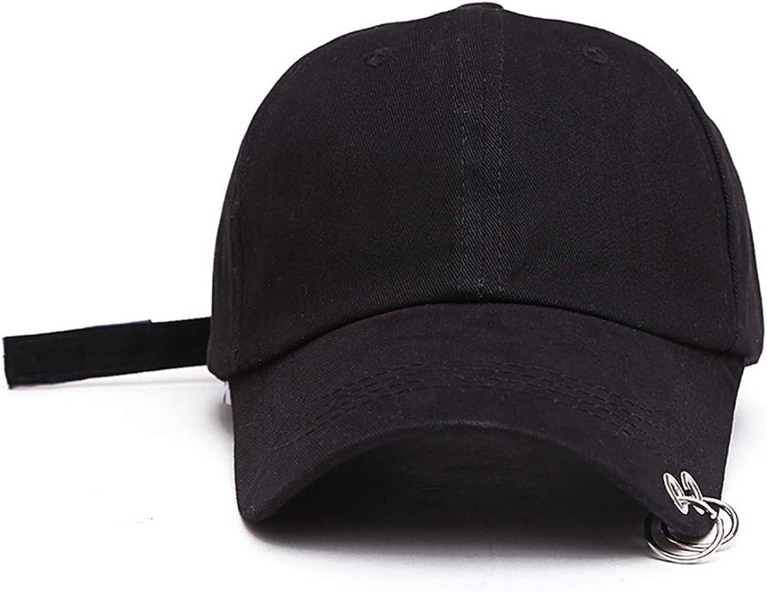Kpop Hat Ring Baseball Suga,Snapback Baseball Cap with Iron Rings