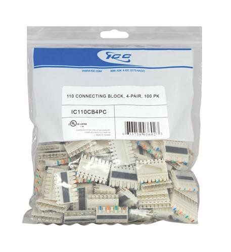 110 Connecting Block- 100 Pk 4-Pair ()