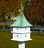 Cypress Landing Bird House White w Verdi Copper Roof For Sale