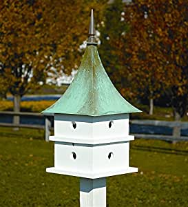 Amazon Com Heartwood Cypress Landing Bird House White W