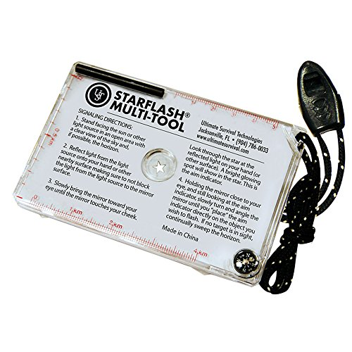 UST StarFlash Multi-Tool Signal Mirror, 4.6 x 3-Inch (Emergency Signaling Device)