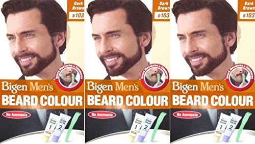 Bigen Men's Beard Colour B103 Dark Brown X 12 Packs by Bigen