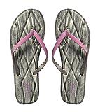 Peach Couture Womens Cozy Comfort Memory Foam Sandals Flats Flip Flops Grey Pink 9 B(M) US