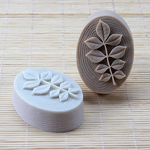 per bombe da bagno ovale con foglie cioccolato Stampo in silicone per sapone naturale fatto a mano caramelle Nicole