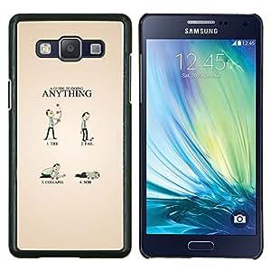 Guía divertido- Metal de aluminio y de plástico duro Caja del teléfono - Negro - Samsung Galaxy A5 / SM-A500