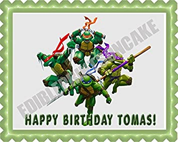 Amazon.com: Ninja Turtles Edible Birthday Cake OR Cupcake ...