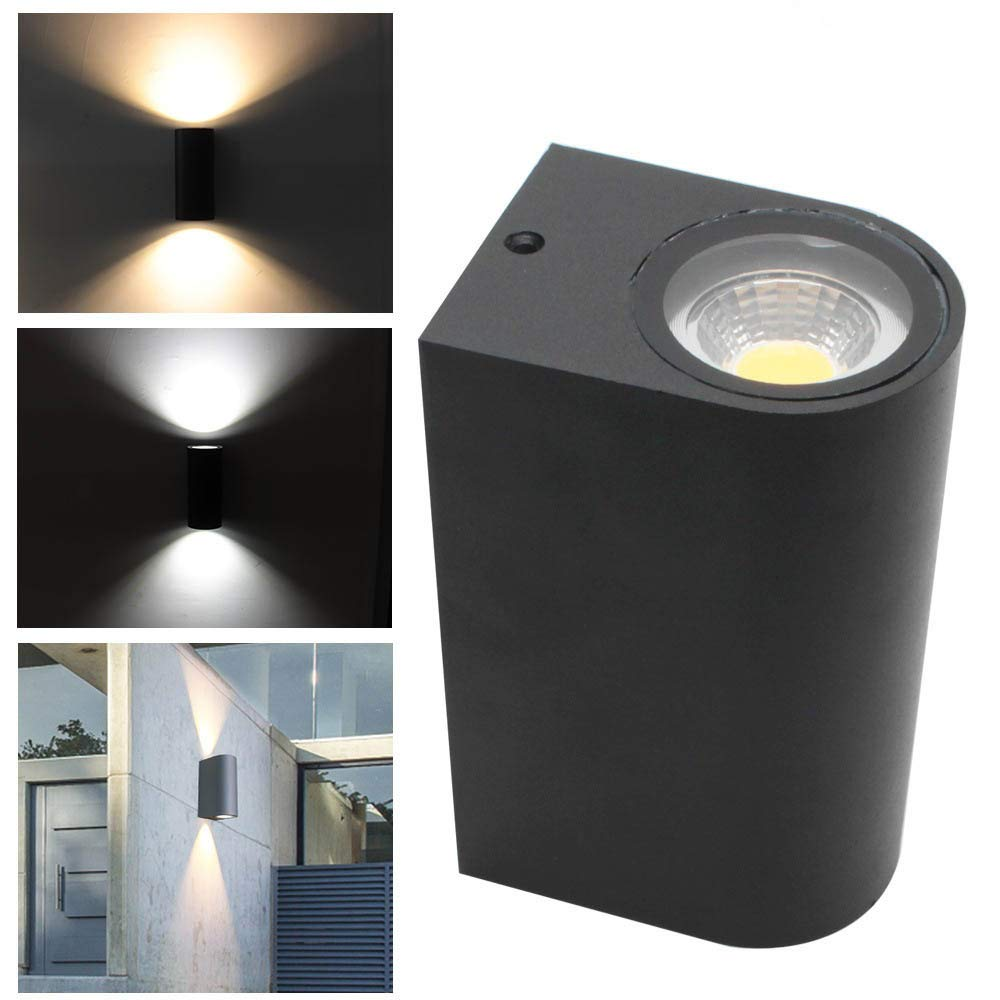 Longay IP44 6w Outdoor Double Up & Down Wall Light LED Bulbs Included - Black