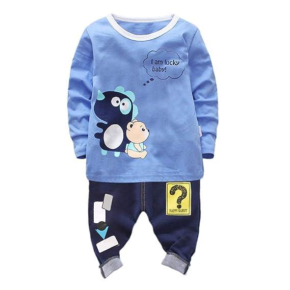 Kinder Baby Jungen Outfit Set Kleidung Kurzarm T Shirts Top Lang Hose Schal 3tlg