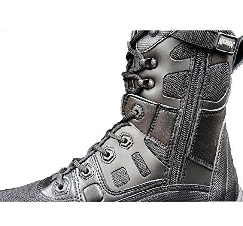 WZG Las nuevas botas ultraligero botas al aire libre del desierto botas tácticas botas de combate de élite Black