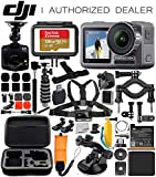 DJI Osmo Action 4K Camera with Free Promotional Dash Cam & Deluxe Accessory Bundle - Includes: SanDisk Extreme 128GB microSDHC Memory Card, Carrying Case, Selfie Stick, Flexible Tripod & More