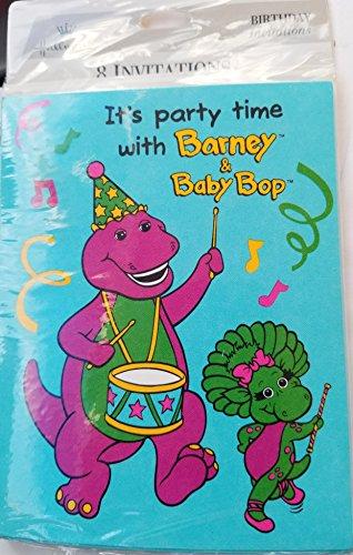 Barney Baby Bop Party Birthday Invitations Invite Decoration 8PC (Barney Birthday Invitations)