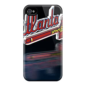 High Quality Hard Phone Cases For Iphone 6plus (BoM13384TPDg) Provide Private Custom Colorful Atlanta Braves Pattern
