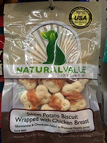 Natural Value Sweet Potato Biscuit Wrapped with Chicken - Sweet Biscuits Potato