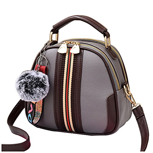 dbad0d5da0 Tibes Top Handle Bag PU Leather Bags Girls Small Shoulder Bag Crossbody Bags  Women B Grey