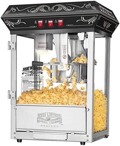5800 Great Northern Popcorn Black Good Time Popcorn Popper Machine, 8 Ounce
