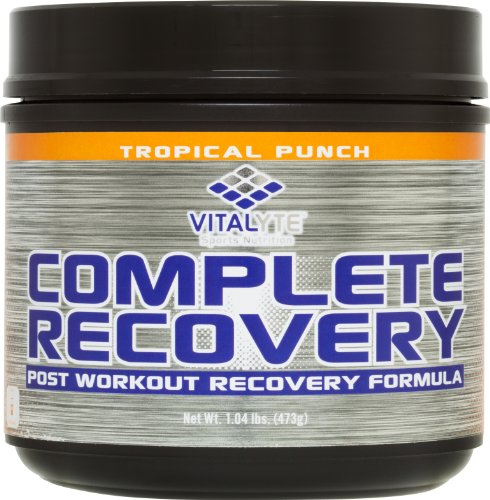 Post Workout Recovery Drink Supplement, Vitalyte Complete Recovery, 20 Servings Per Jar (Tropical Punch)