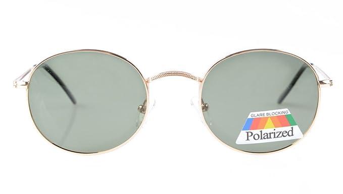 Eyekepper Vintage Style Qualität Runde polarisierten Sonnenbrillen Gold Frame-G15 Lens x8TcLumn4M