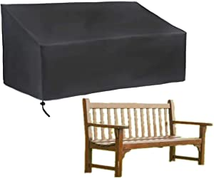 skyfiree 2 Seater Patio Bench Cover Outdoor Garden Bench Loveseat Covers Waterproof Lawn Furniture Cover 53x26x35inch Bench Sofa Cover Protector