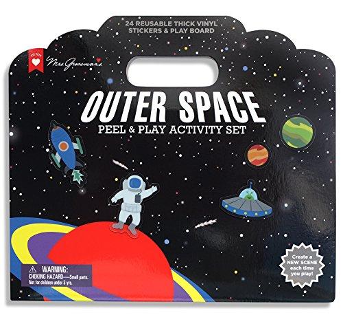 Mrs. Grossman's Outer Space Reusable Sticker Activity Set, Multicolor