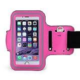Cell-Stuff Adjustable Neoprene Pink Sports Arm Band ArmbandCompatible w/BlackBerry KEY2